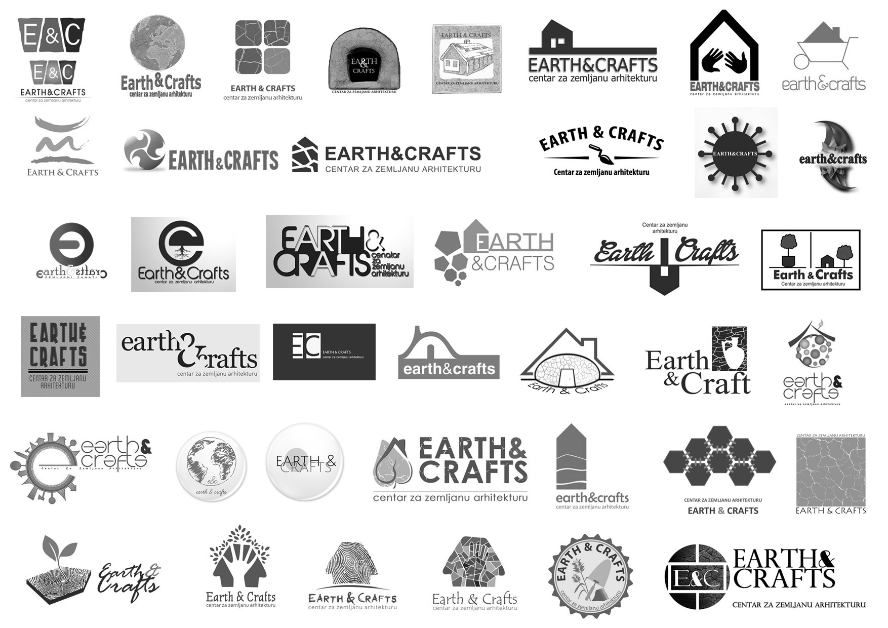 00-40 logo EARTH&CRAFTS predlozi b&w