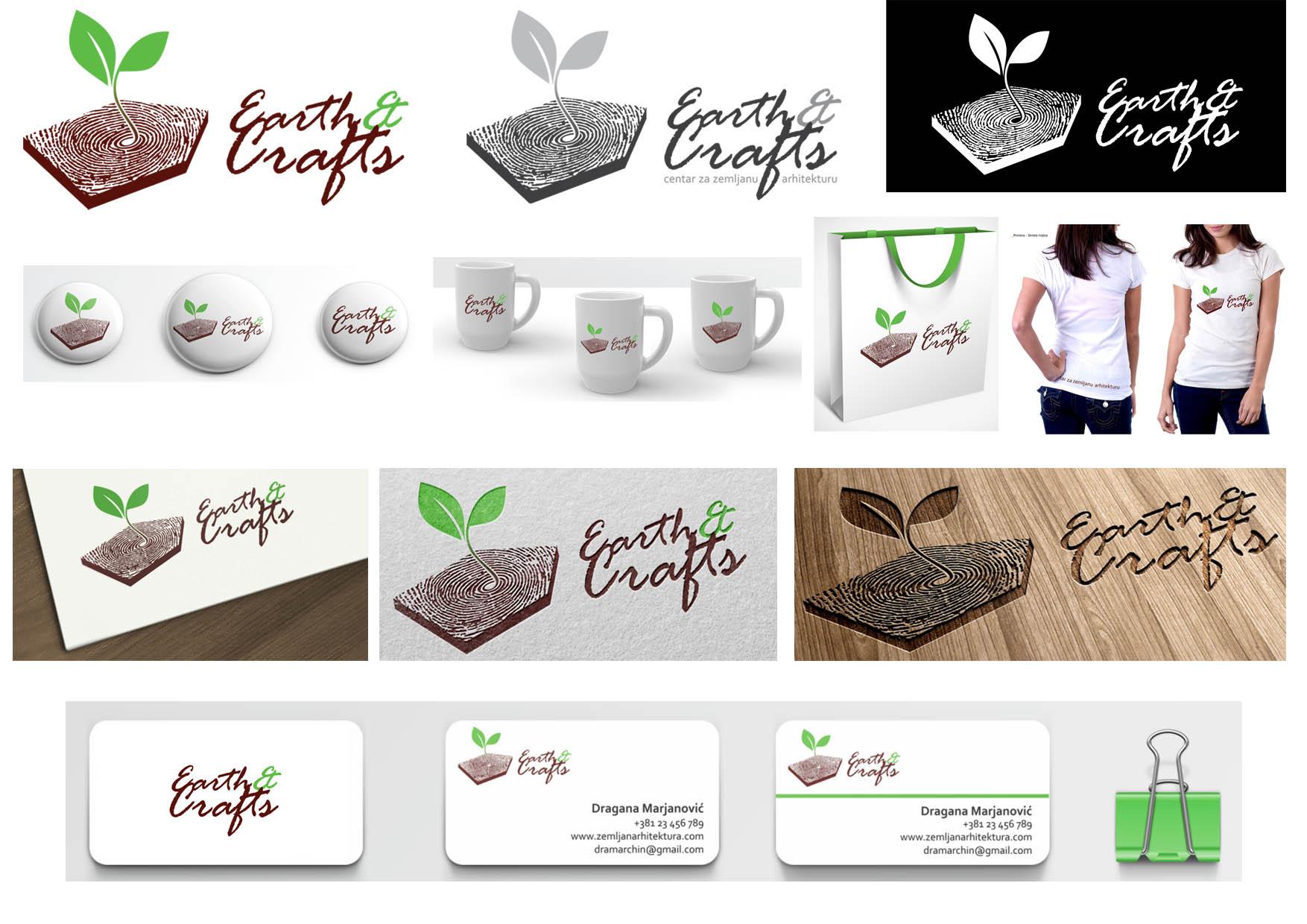 35 predlog logo EARTH&CRAFTS atelje Beograd ateljeoffice@gmail.com
