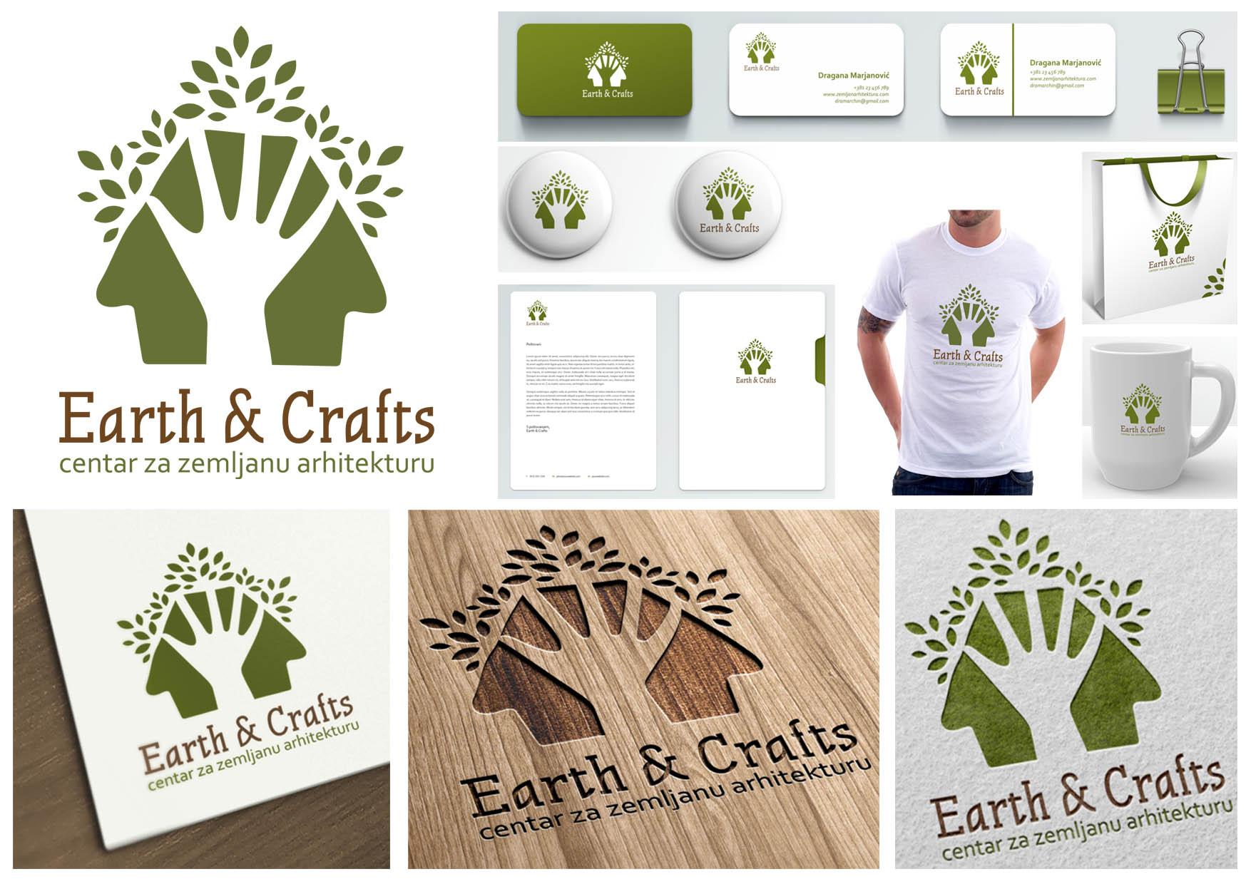 36 predlog logo EARTH&CRAFTS atelje Beograd ateljeoffice@gmail.com