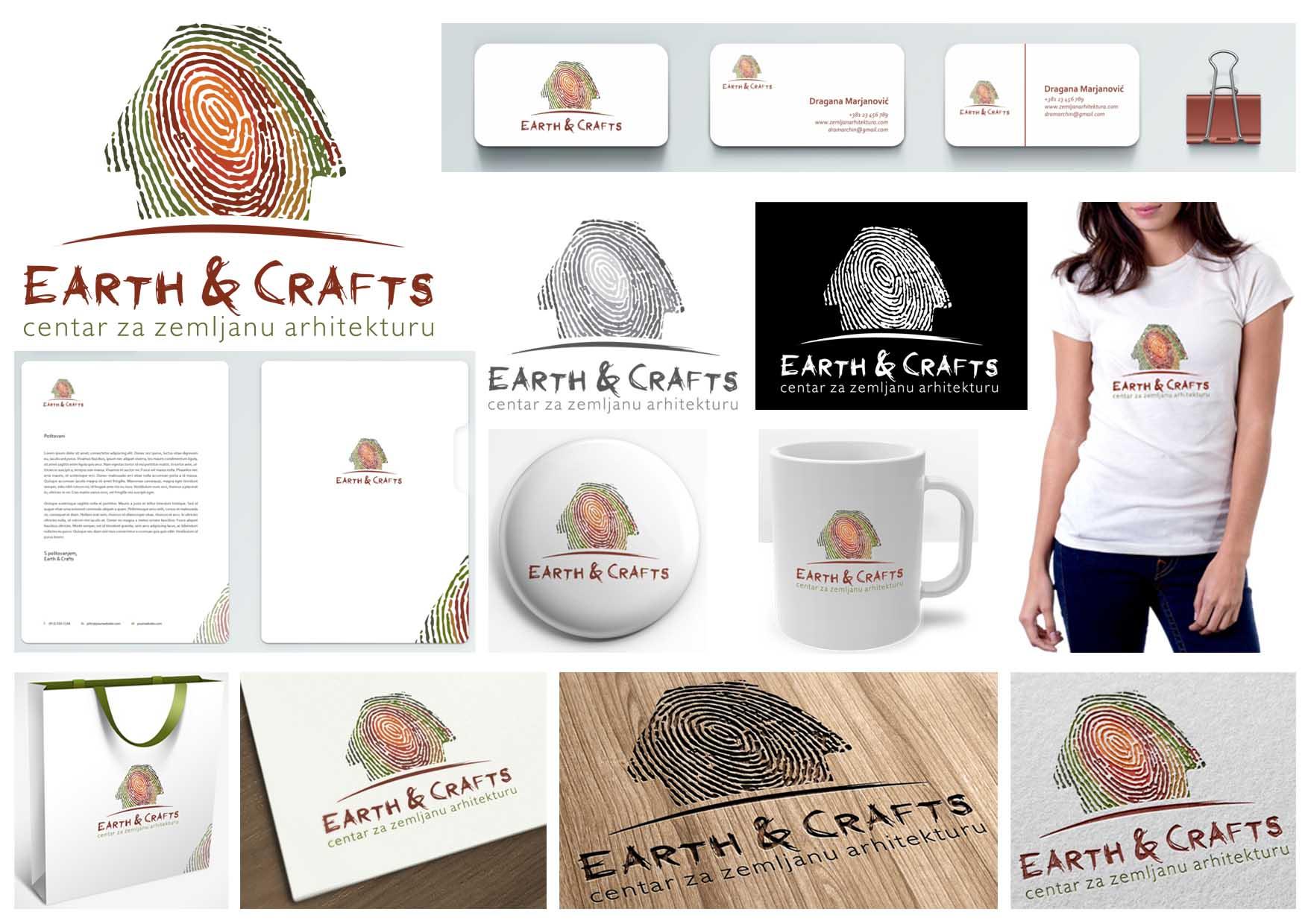 37 predlog logo EARTH&CRAFTS atelje Beograd ateljeoffice@gmail.com
