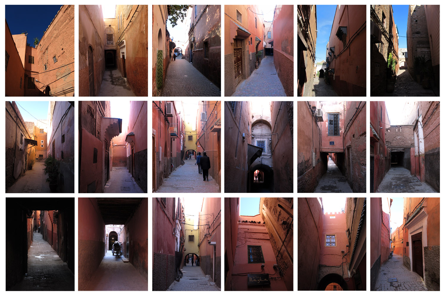 10 red streets ofMarrakesh