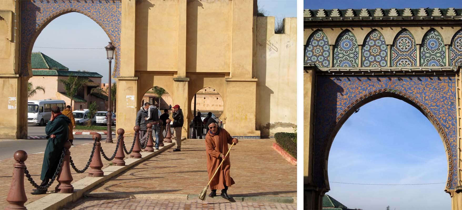 139 maroko meknes kapija pored mauzoleja mule ismaila