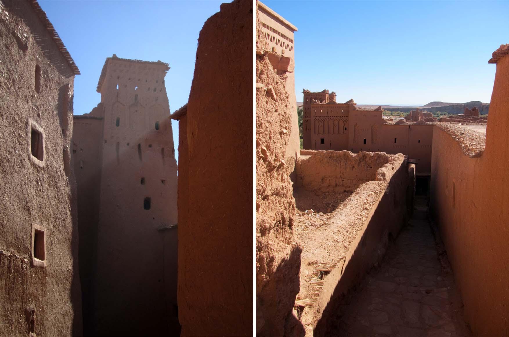 44 maroko ait ben haddou ulice i zidine