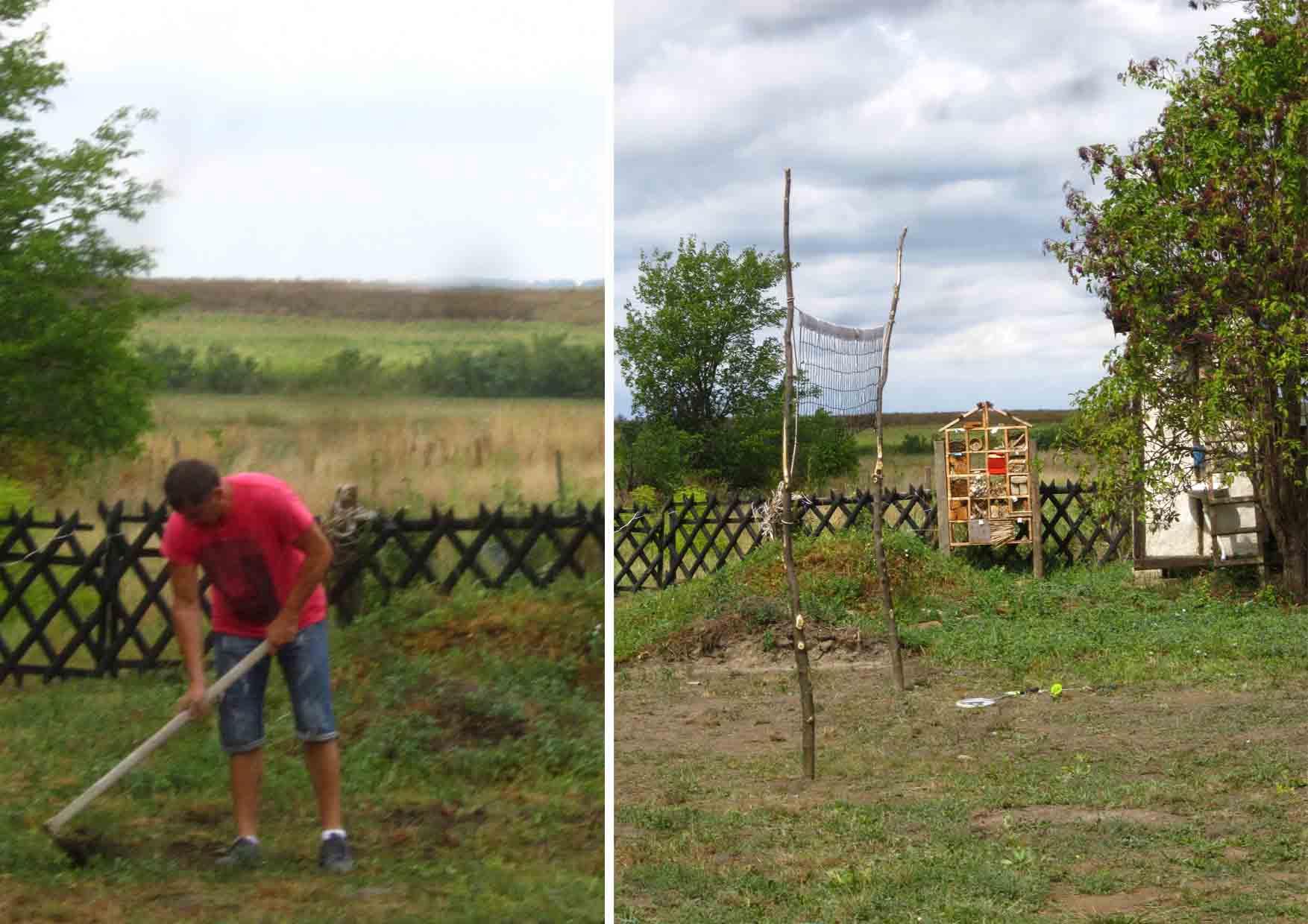 10a kamp zemljane gradnje II Djole sprema teren za odbojku i badminton