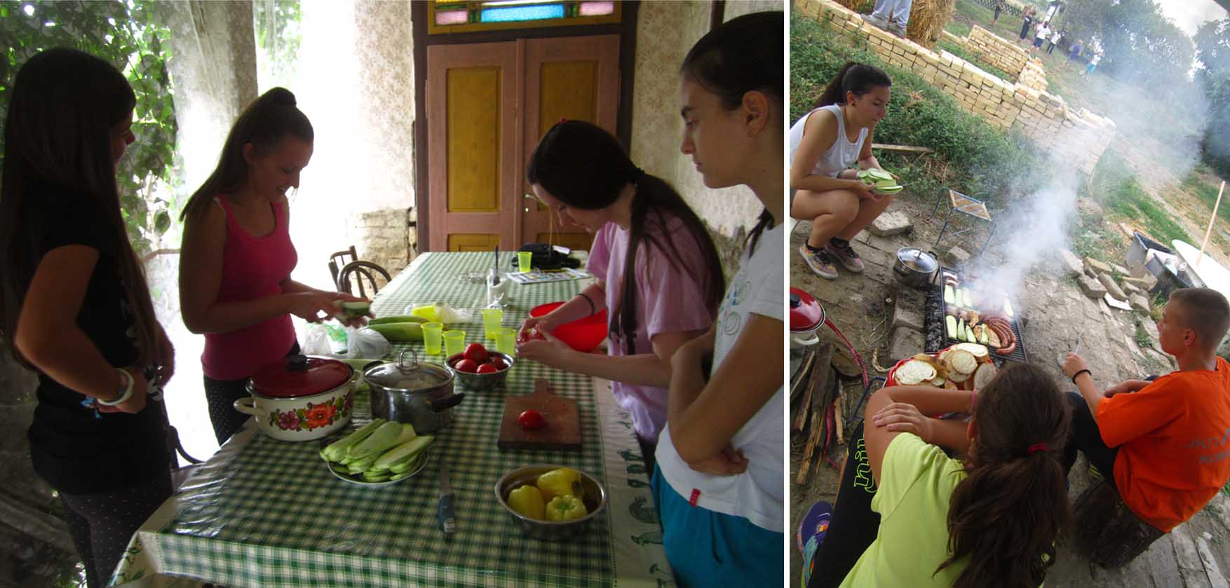 11 kamp zemljane gradnje II rostilj i salata