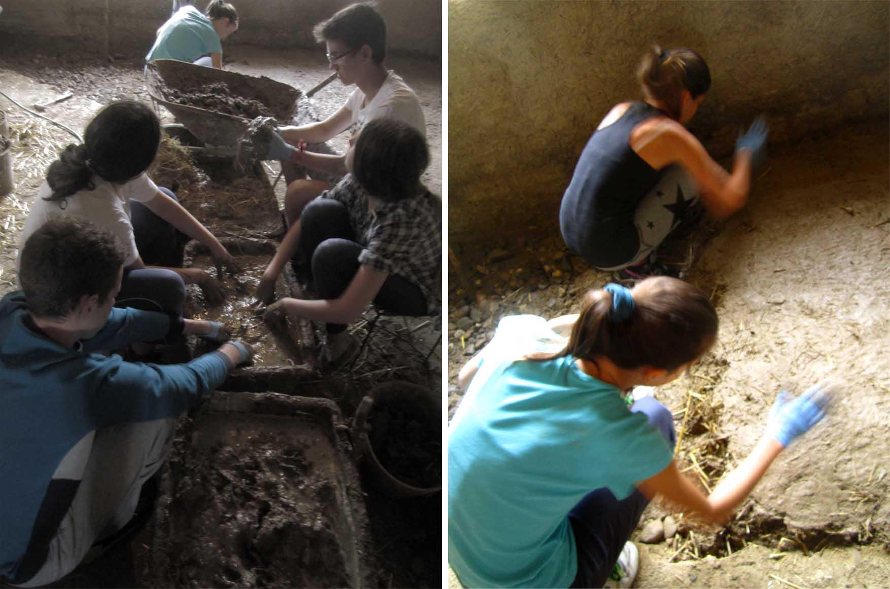 25 kamp zemljane gradnje II ekipa na delu radi pod