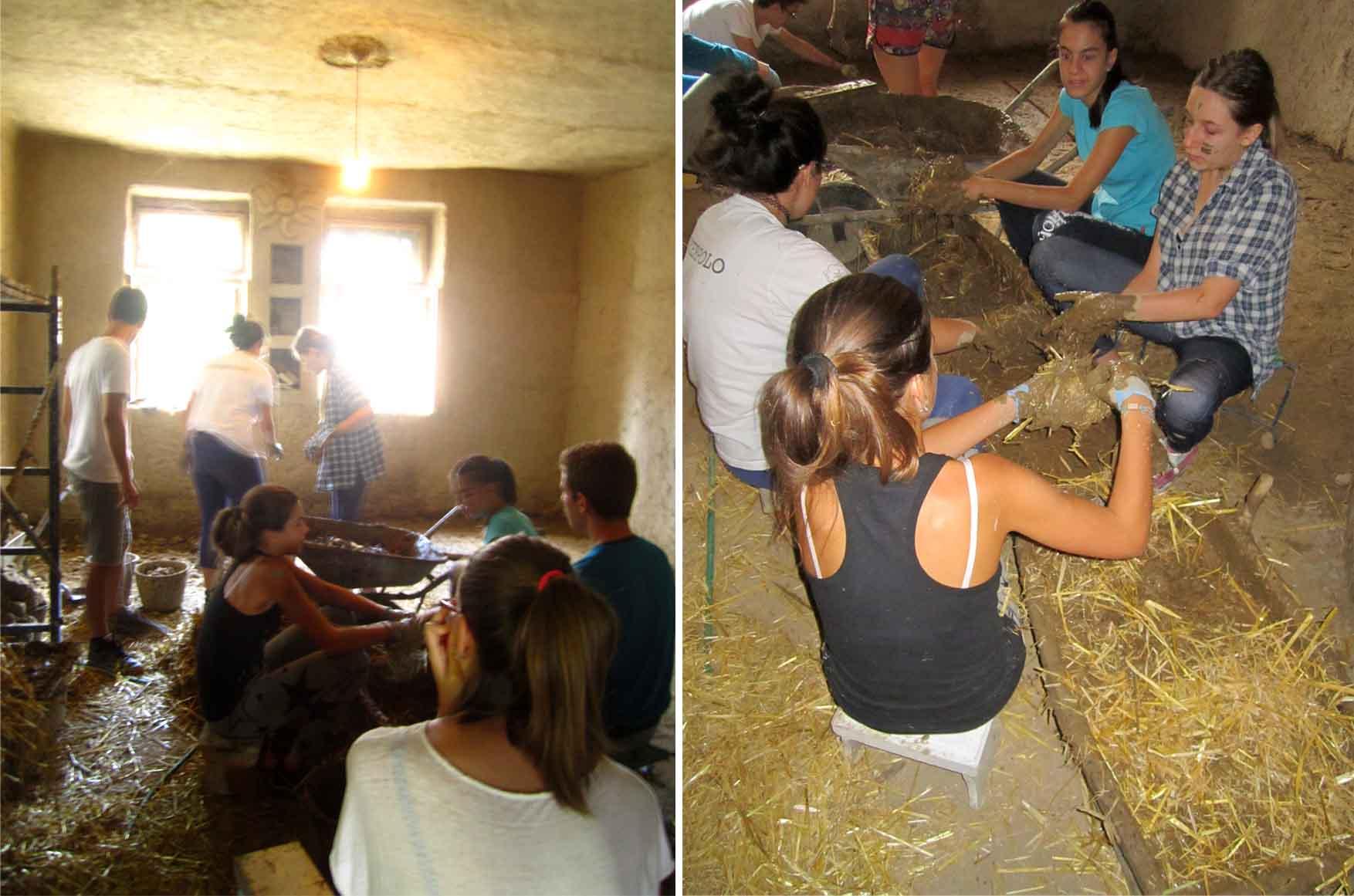 28 kamp zemljane gradnje II ekipa na delu radi pod