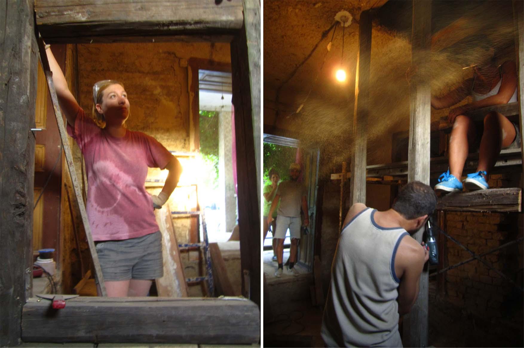 65 mORA 2015 postavljanje drvene strukture