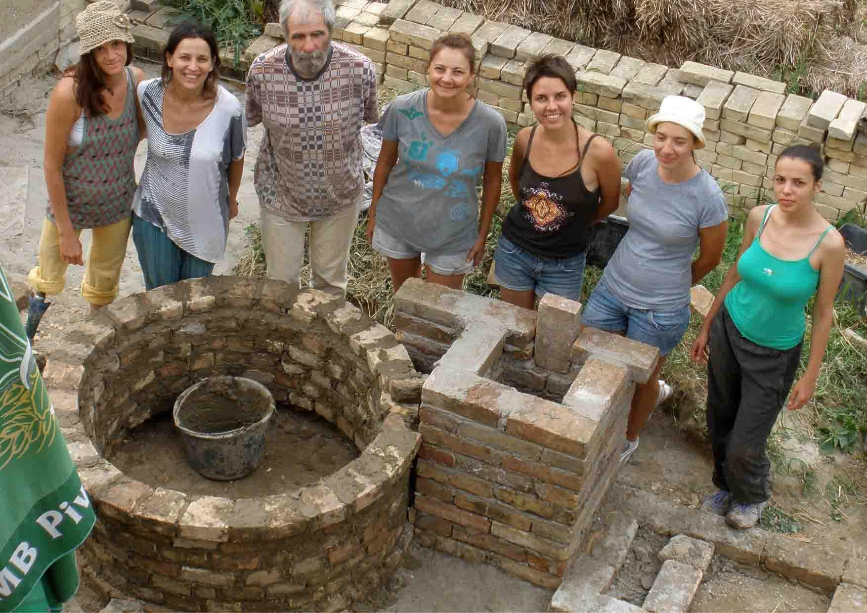 20 pećke Vass Zoltan žemska pećka radionica zidanje na kraju prvog dana